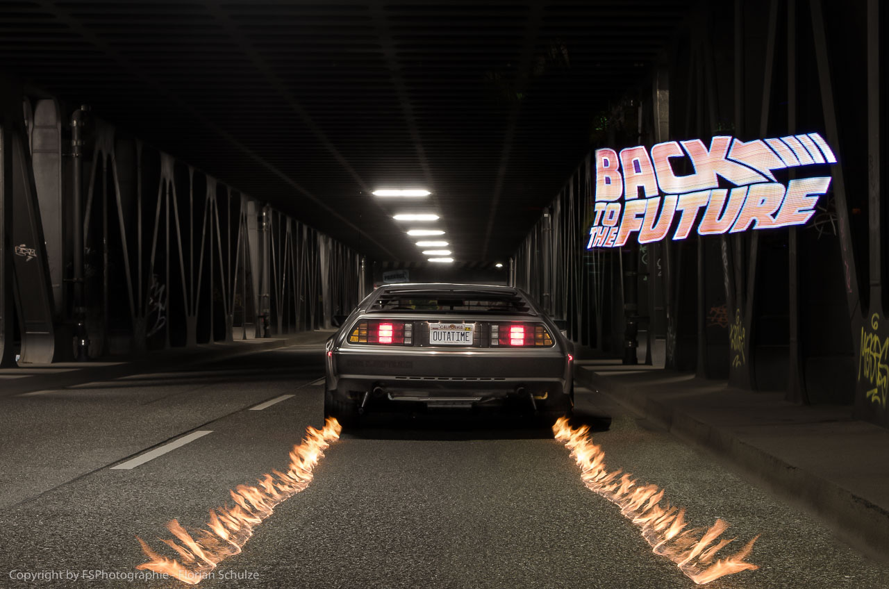 Back To The Future LightPainting
